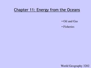 Chapter 11: Energy from the Oceans