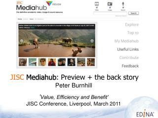 JISC Mediahub : Preview + the back story