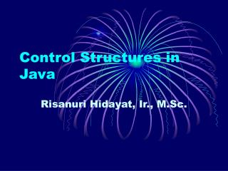 Control Structures in Java