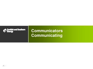 Communicators Communicating