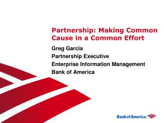 Partnership: Making Common Cause in a Common Effort