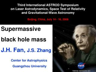 Supermassive  black hole mass J.H. Fan,  J.S. Zhang