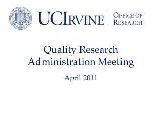 Quality Research Administration Meeting