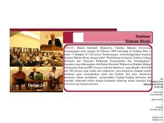 Seminar  Hukum Bisnis