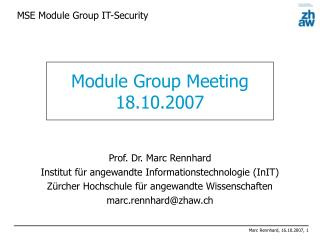 MSE Module Group IT-Security