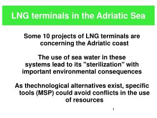 LNG terminals in the Adriatic Sea