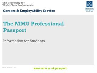 The MMU Professional Passport