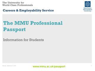 The MMU Professional Passport