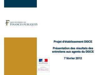 Le contexte : un avant-projet d'établissement  présenté le 3 octobre 2011