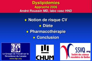 Dyslipid mies Approche 2006 Andr  Roussin MD, labo vasc HND