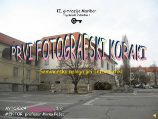 II. gimnazija Maribor Trg Miloša Zidanška 1