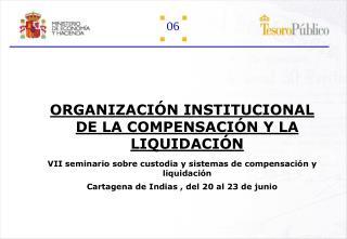 ORGANIZACIÓN INSTITUCIONAL DE LA COMPENSACIÓN Y LA LIQUIDACIÓN