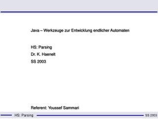 Java – Werkzeuge zur Entwicklung endlicher Automaten