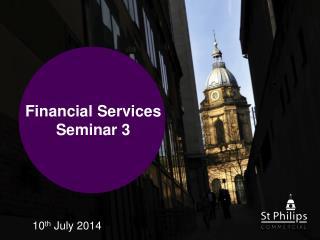 Financial Services Seminar 3