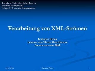 Technische Universität Kaiserslautern  Fachbereich Informatik Lehrgebiet Datenverwaltungssysteme