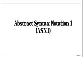 What is ASN.1