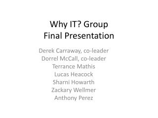 Why IT? Group Final Presentation