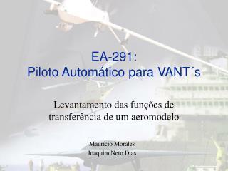 EA-291: Piloto Automático para VANT´s