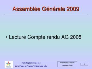 Assemblée Générale 2009