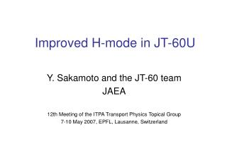 Improved H-mode in JT-60U