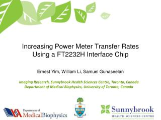 Increasing Power Meter Transfer Rates Using a FT2232H Interface Chip