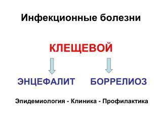 КЛЕЩЕВОЙ ЭНЦЕФАЛИТ БОРРЕЛИОЗ