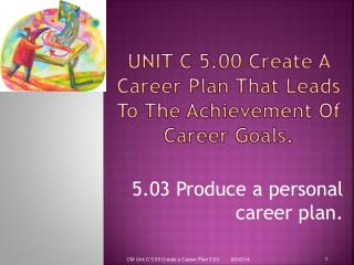 Unit C  5.00 Create A Career Plan That Leads To The Achievement Of Career Goals.