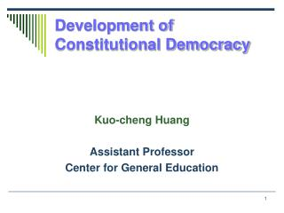 Development of Constitutional Democracy