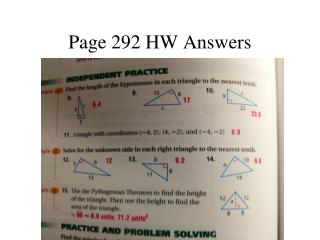 Page 292 HW Answers
