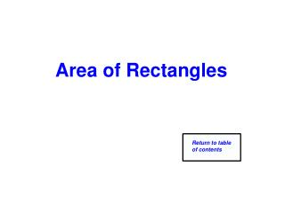 Area of Rectangles