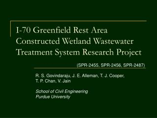 I-70 Greenfield Rest Area Constructed Wetland Wastewater Treatment System Research Project