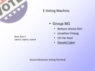 E-Voting Machine
