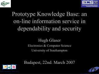 Prototype Knowledge Base: an on-line information service in dependability and security