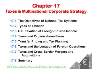 Chapter 17 Taxes & Multinational Corporate Strategy