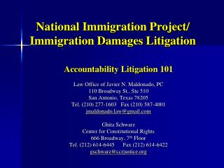 National Immigration Project/ Immigration Damages Litigation