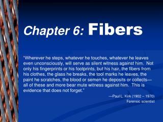 Chapter 6: Fibers