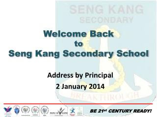 Address by Principal 2 January 2014