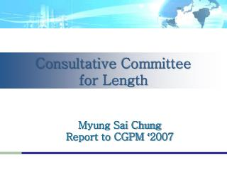 Consultative Committee           for Length