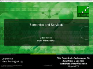 Semantics and Services