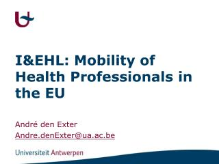 I&EHL: Mobility of Health Professionals in the EU