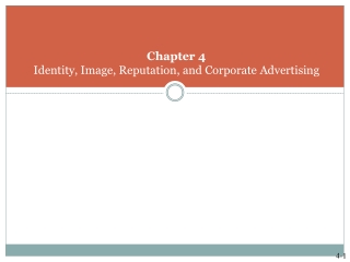 CHAPTER 3:  BRAND POSITIONING  VALUES