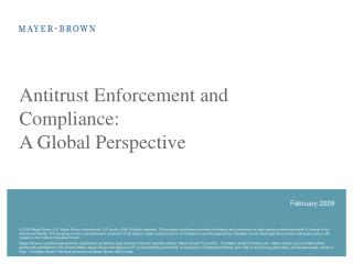 Antitrust Enforcement and Compliance: A Global Perspective