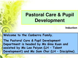 Pastoral Care & Pupil Development