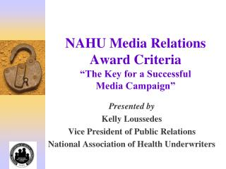 NAHU Media Relations