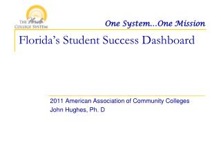 Florida�s Student Success Dashboard