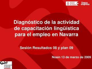 Diagnóstico de la actividad de capacitación lingüística para el empleo en Navarra