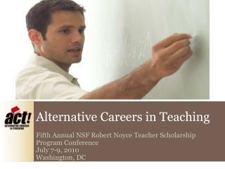 Alternative Careers in Teaching