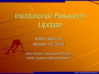 Institutional Research Update