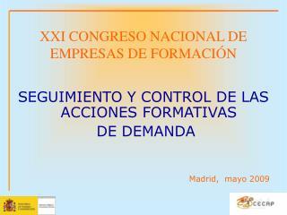 XXI CONGRESO NACIONAL DE EMPRESAS DE FORMACIÓN