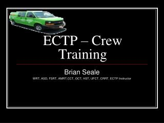 ECTP – Crew Training